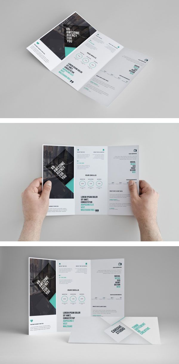 format for a brochure