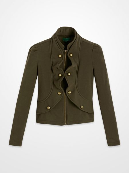 Olive green military jacket womens