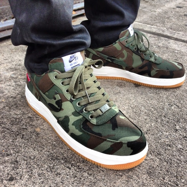 buy online ff3dc 571ac nike air force 1 low in army green cargo khaki and camo nz