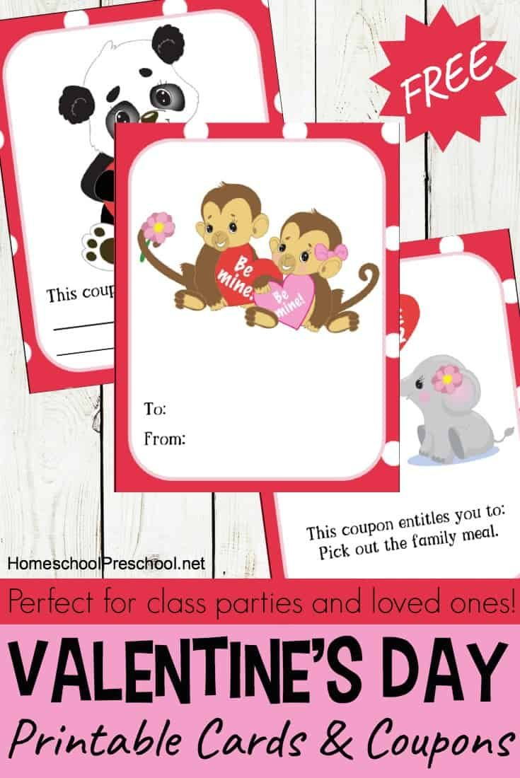 Printable Valentine Cards For Kids Printable Valentines Cards Valentines Printables Valentine S Cards For Kids