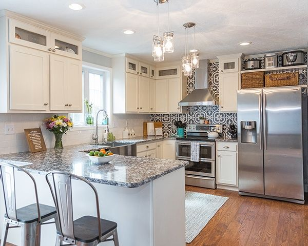 Should I Get An Island Or Peninsula In My Rectangular Kitchen Kitchen Remodel Small New Kitchen Cabinets Kitchen Refacing
