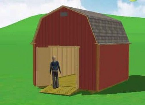 12x16 Gambrel Shed plans #shedplans | shed plans in 2019