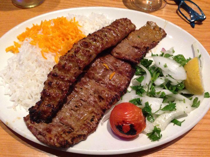 Lamb Soltani Kabob plate--Alounak Persian Restaurant London UK