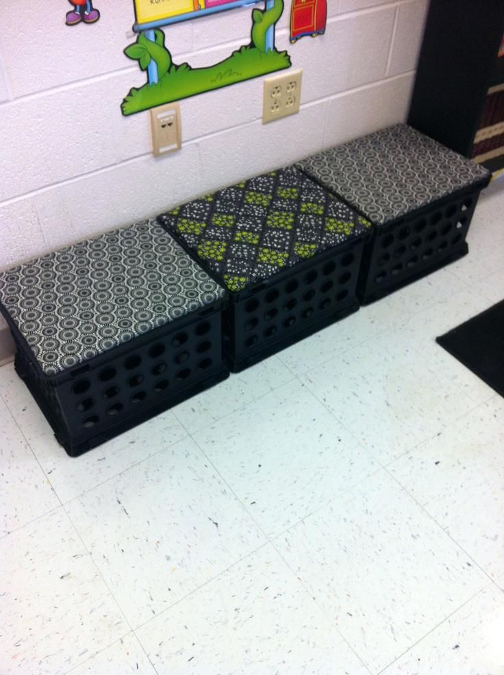 Milk Crate Bed Frame Milk Crate Seats That I Made For My Classroom