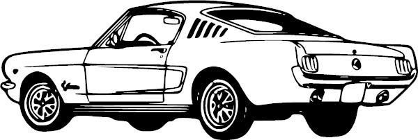 Ford Mustang Vinyl Decal Autos Carros Viejos Viejitos Y