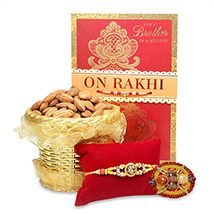 Almonds & Om Rakhi Hamper