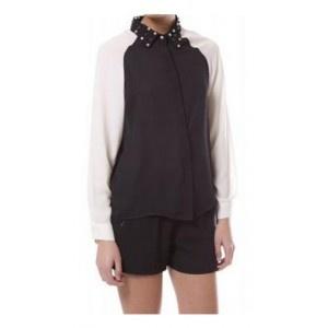 Camisa Crystal Collar Negro. 54,90€