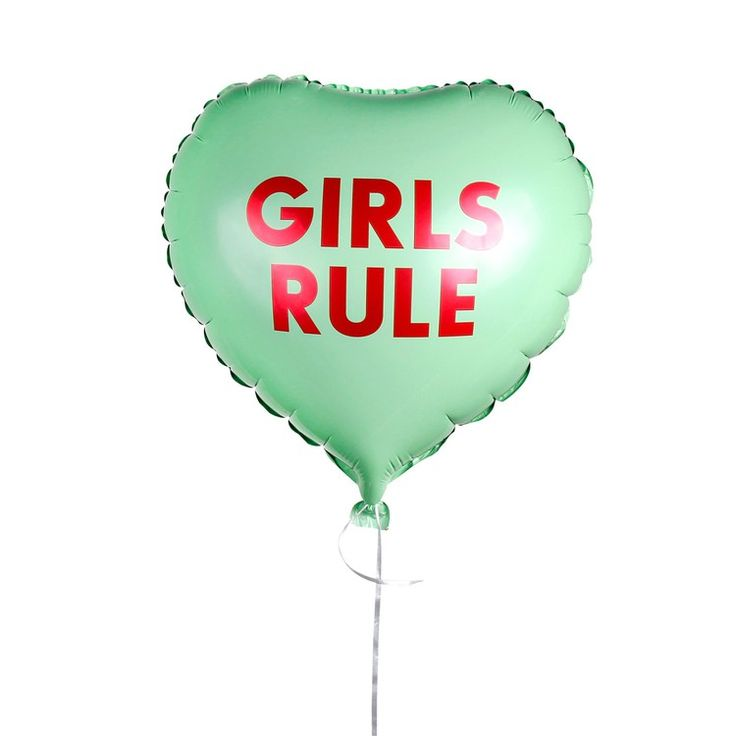 Conversation Heart Mylar Balloon - Girls Rule - Studio DIY