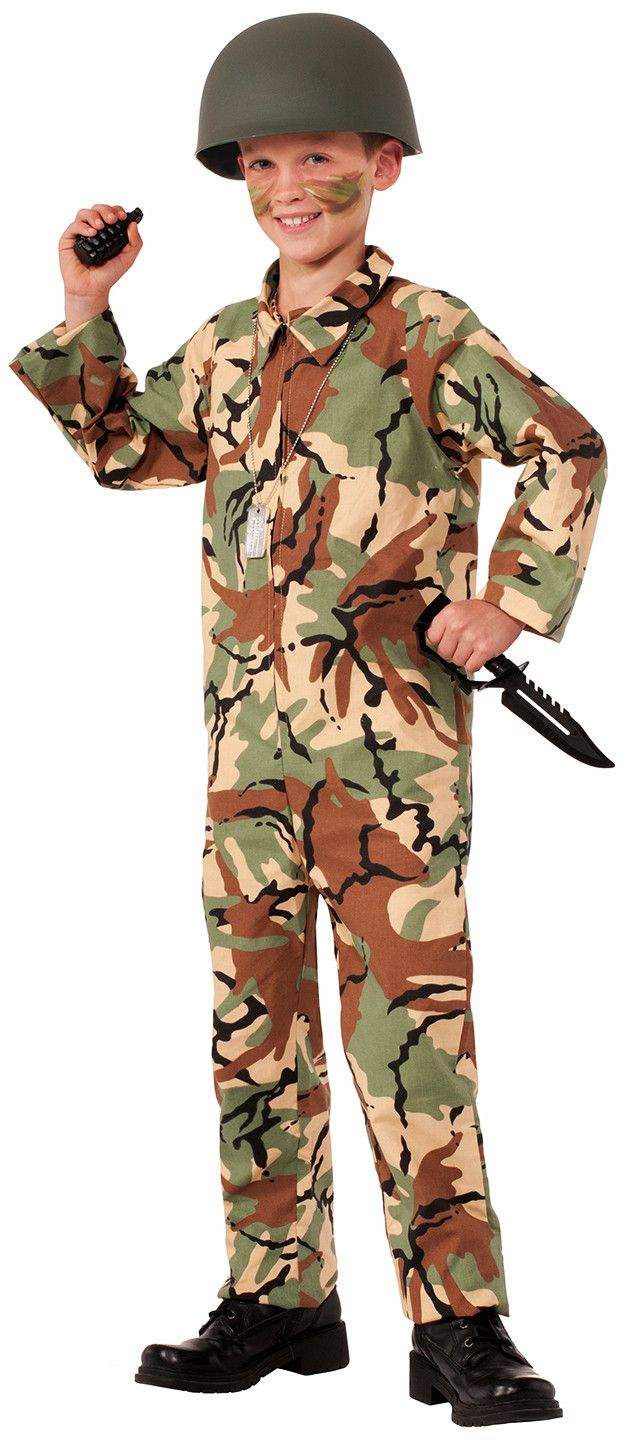 Army Camouflage Jumpsuit Costume Child