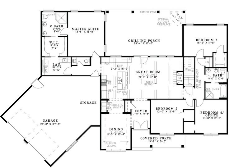 44 best dual master suites house plans images on pinterest for First floor master bedroom floor plans