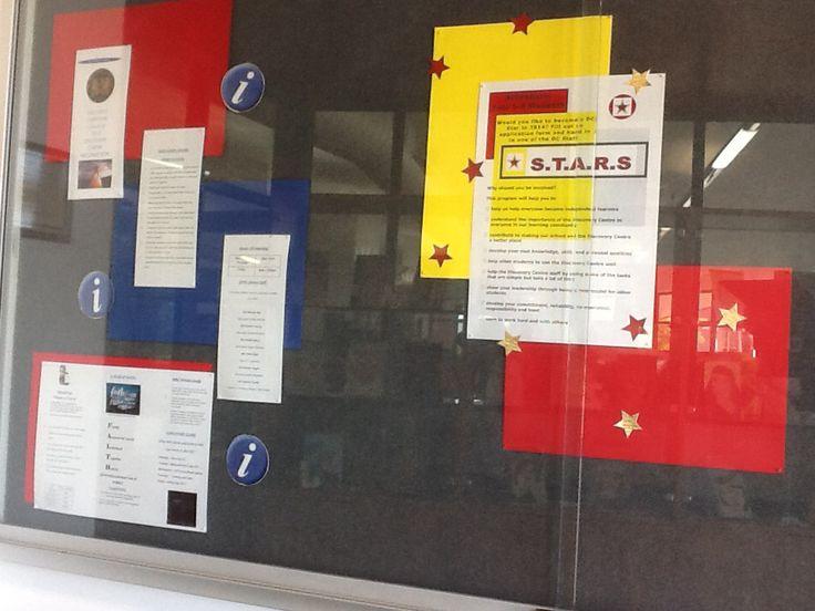 Foyer notice board