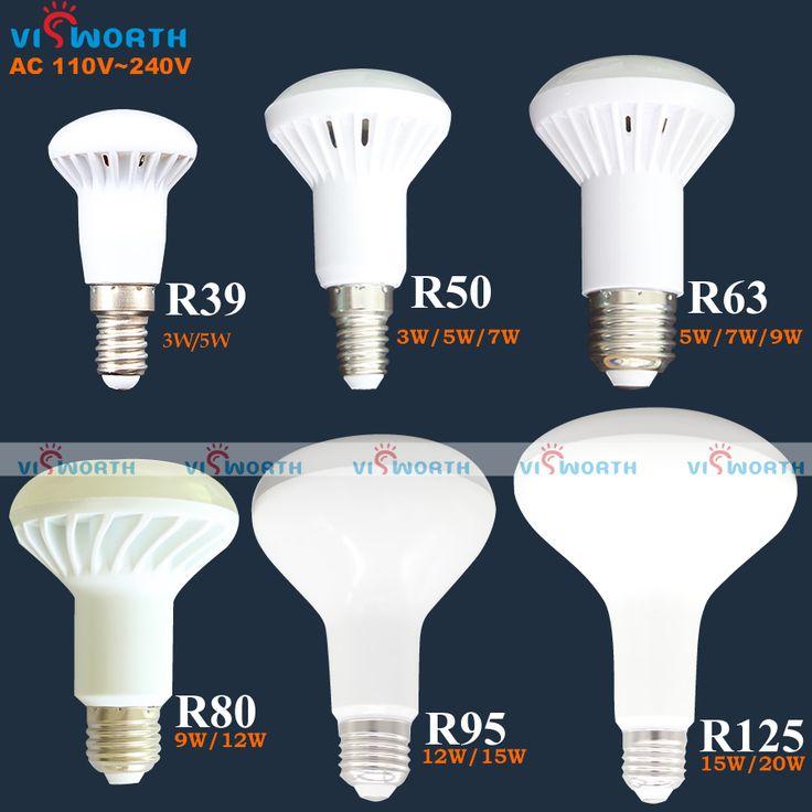 Chất lượng cao R50 DẪN đèn E14 3 Wát 5 Wát 7 Wát led light R39 R63 r80 r95 r125 dẫn bóng e27 cơ sở ac 110 v 220 v 240 v ấm lạnh trắng đèn