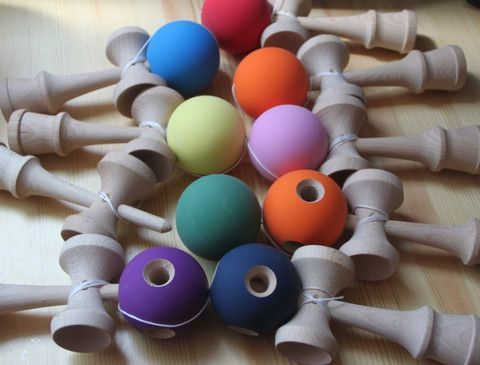 Rubberized Kendama! Free Shipping