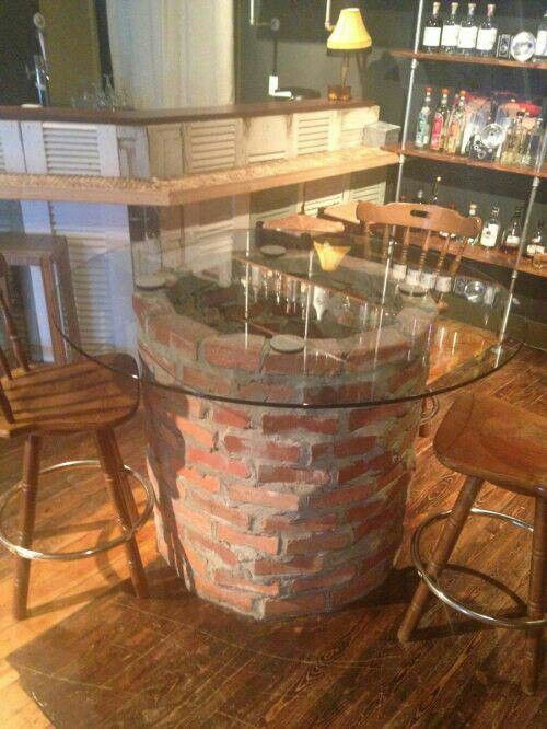 Cool rustic pub style table for the house