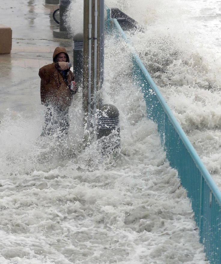 As Hurricane Matthew continued to move up the Atlantic coast, it weakened slightly. As of 5 p.m. EDT Friday, the National Hurricane Center said Matthew had sustained winds of 110 mph, making it a very powerful Category 2 storm