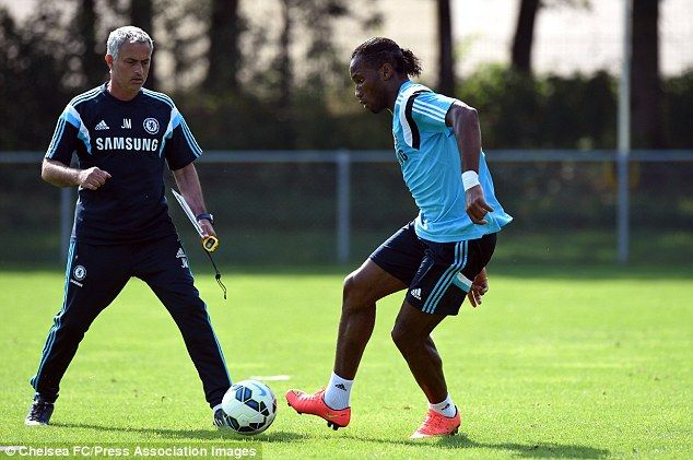 Reunited: Mourinho has re-signed Chelsea legend Didier Drogba on a one-year deal...