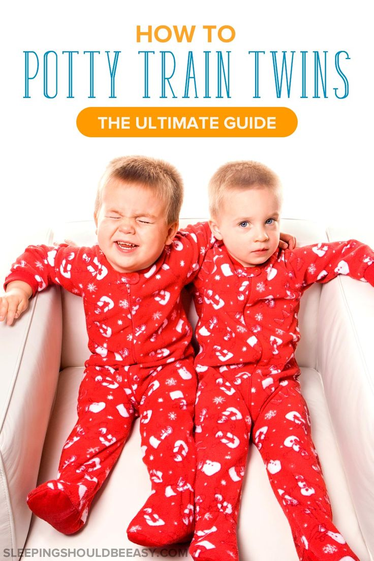 Learn how to potty train twins, from when to start, how to prepare, and what to do when one twin isn't ready. Get the tips to toilet train your twins!