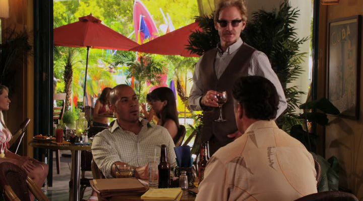 "Burn Notice 5x13 ""Damned If You Do"" - Sam Axe (Bruce Campbell), Jesse Porter (Coby Bell) & Anson Fullerton (Jere Burns)"