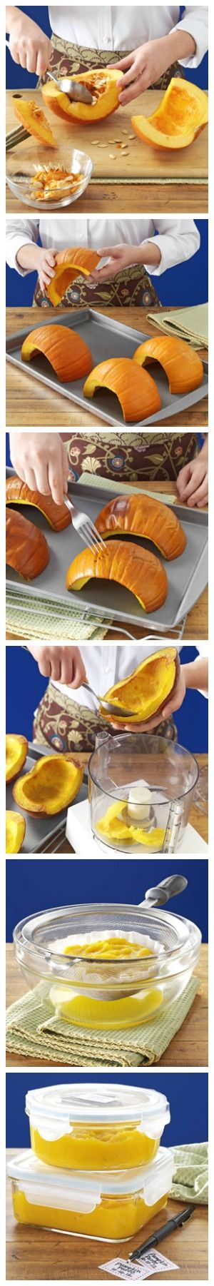 How to Make Pumpkin Puree from Taste of Home
