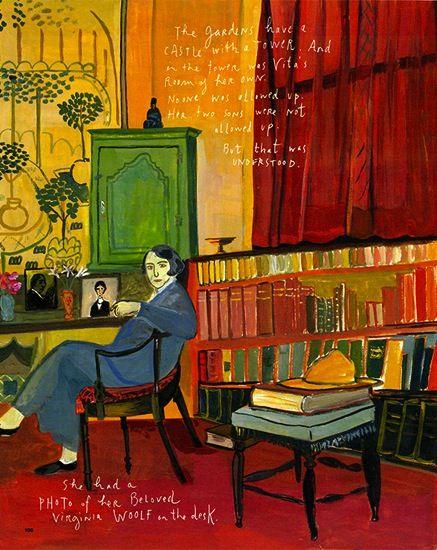 """Great library:  """"The Splendid Garden(er)"""": Maira Kalman Visits Vita Sackville West's Knole for Culture + Travel"""