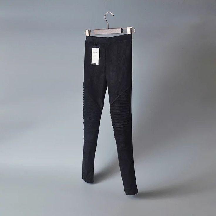 KM5 Nouvelle Mode 2016 Femmes Faux Leggings En Daim Plissée Taille Élastique Cheville Longueur Pantalon Confortable Occasionnel Chaud Marque Vêtements De Travail Feminina dans de sur AliExpress.com | Alibaba Group
