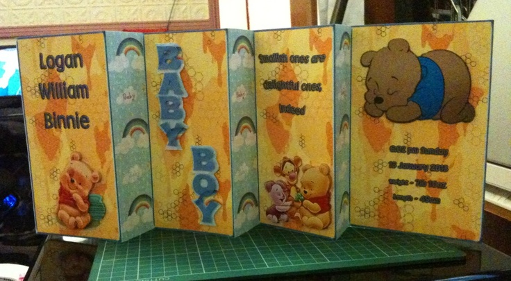 2 view baby boy card