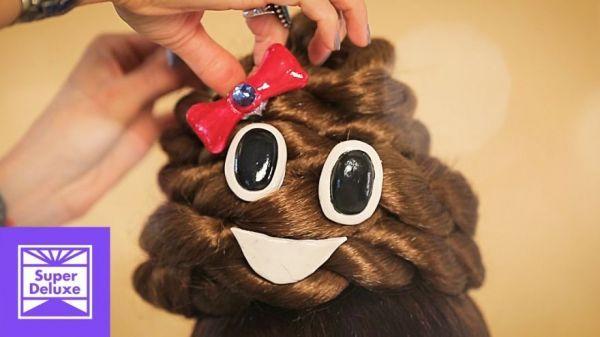 Crappy Last Minute Halloween Costume Idea - Poop Emoji Hair - Neatorama