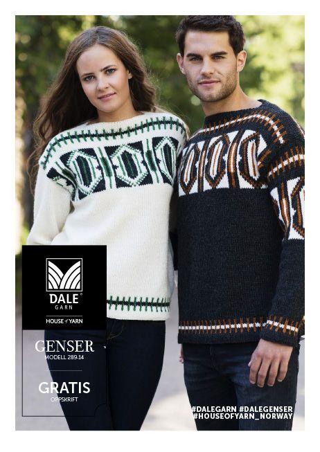 #DaleGarn Free download pattern Unisex genser nr. 289-14