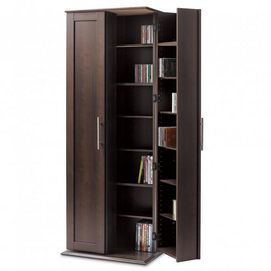 Large Locking Media Cabinet with Framed Doors - Sears