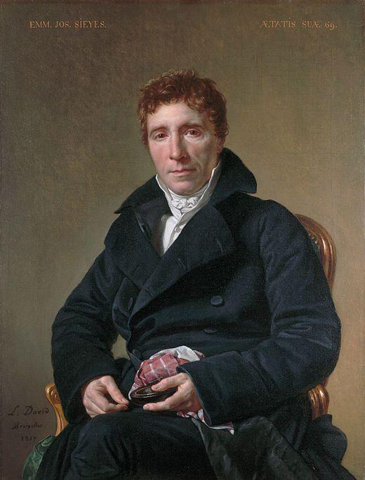 - Emmanuel-Joseph Sieyès - WGA06098.portrait par Jacques-Louis David 1817. Dans ce portrait l'artiste représente l'ancien révolutionnaire Emmanuel-Joseph Sieyès, en exil comme lui à Bruxelles.