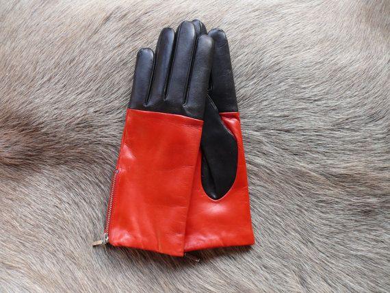 women's leather gloves by leathergloves4u on Etsy, $48.00