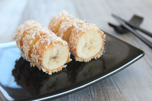 """Banana Sushi """"Tempura"""" Roll {Toddler Approved} « Healthy Food For Living"""