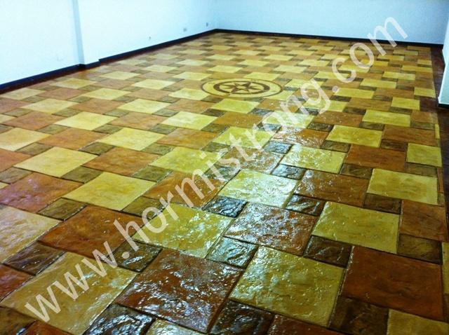pavimento de hormigon impreso horizontal en el interior