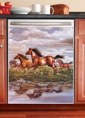 Western Horses Kitchen  Dishwasher Magnet