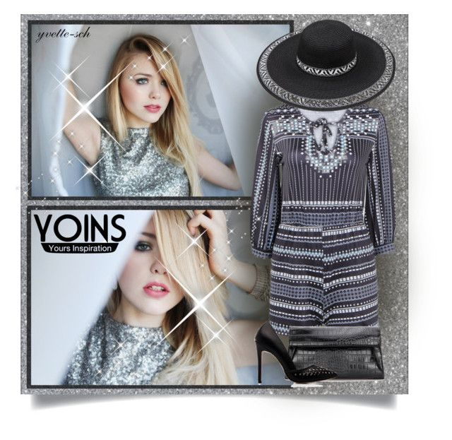 """""""Yoins Silver Playsuit"""" by yvette-sch ❤ liked on Polyvore"""