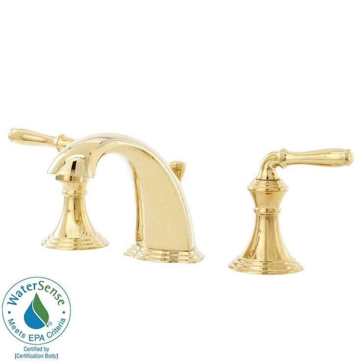 Kohler Devonshire 8 In Widespread 2 Handle Low Arc Bathroom Faucet In Vibrant Polished Brass