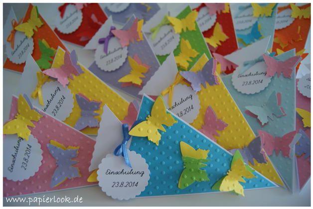 ~ Einladung zum Schulanfang mit Schmetterlingen ~