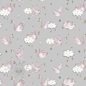 Úplet Swan sweethearts glitter grey