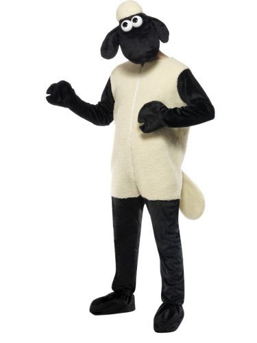 TV Adult Shaun The Sheep Animal Fancy Dress Costume Outfit Wallace & Gromit Mens (31329) | TV Film and Music | Cartoon Classics