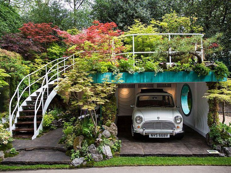 英国チェルシーフラワーショー最高賞日本人庭園デザイナーが作ったガレージの庭に