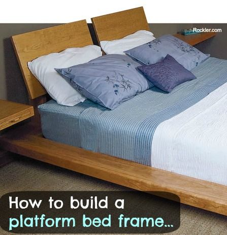How To Build A Bed Frame - Plans, Blueprints, Instructions, Diagrams ...