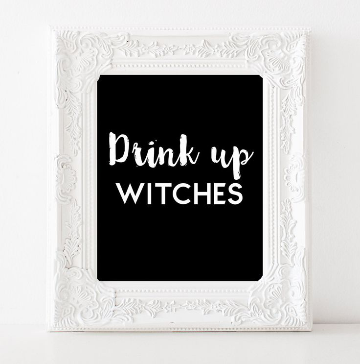 Drink up witches Halloween party decor Halloween bridal shower decor Halloween…