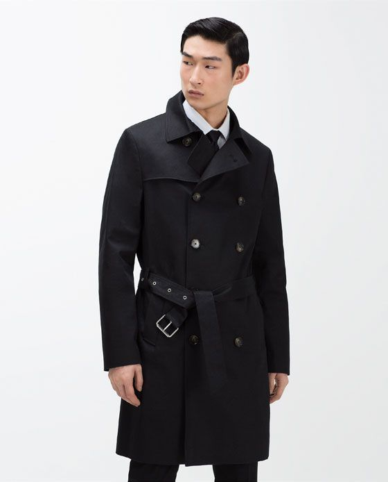 Image 2 of DOUBLE-BREASTED TRENCH COAT from Zara