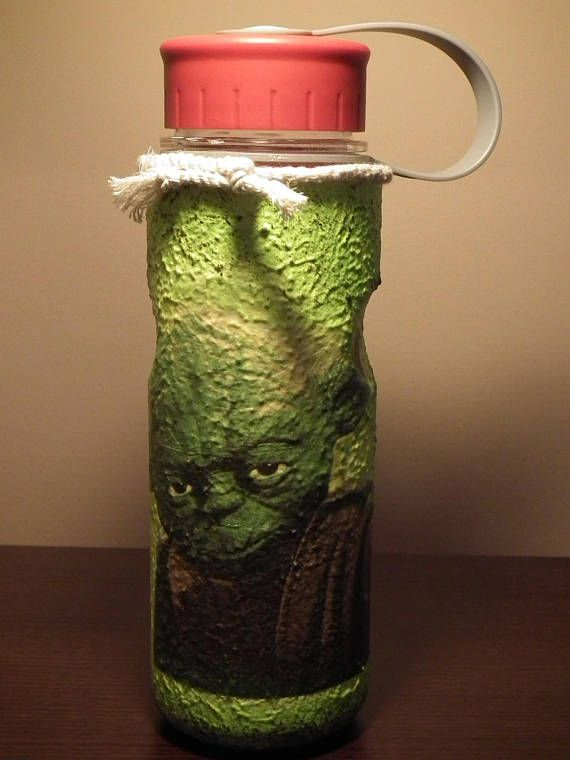 Star Wars Darth Vader Yoda decor decoupage plastic flask for