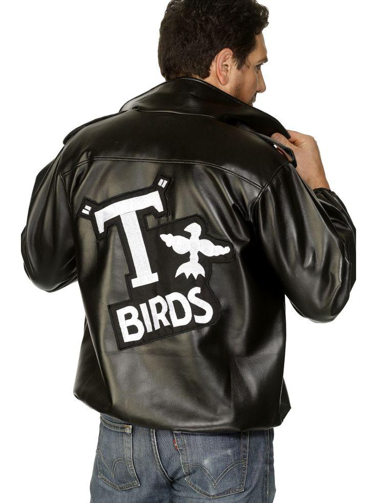 Grease T-Birds -takki. Tässä naamiaisasussa voit luoda itsellesi 50-luvun tyylin ja astua hetkeksi Grease maailmaan.