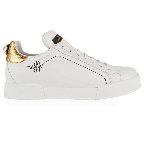 Dolce And Gabbana Pearl Trainers (7,570 MXN) ❤ liked on Polyvore featuring shoes, sneakers, pearl shoes, dolce gabbana trainers, fleece-lined shoes, dolce gabbana sneakers and dolce gabbana shoes