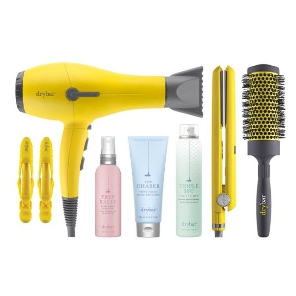 Women's Drybar Buttercup Big Bundle Collection ($299) ❤ liked on Polyvore featuring beauty products, haircare, no color, straightening iron, flat iron, styling iron, hair blow dryer and hair dryer round brush