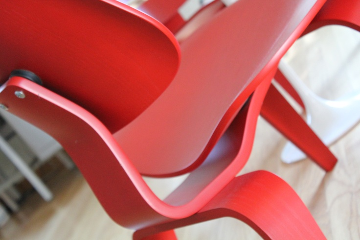 1 new in the box eames lcw in red (herman miller). paid us $529
