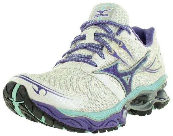 Mizuno Running Shoes Womens -White/Purple/Teal
