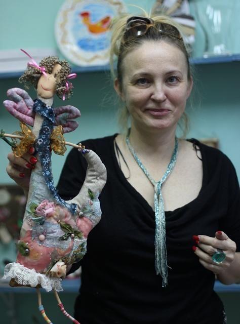 """Фотоотчет: Кукла в стиле """"Наив"""" - Ярмарка Мастеров - ручная работа, handmade"""